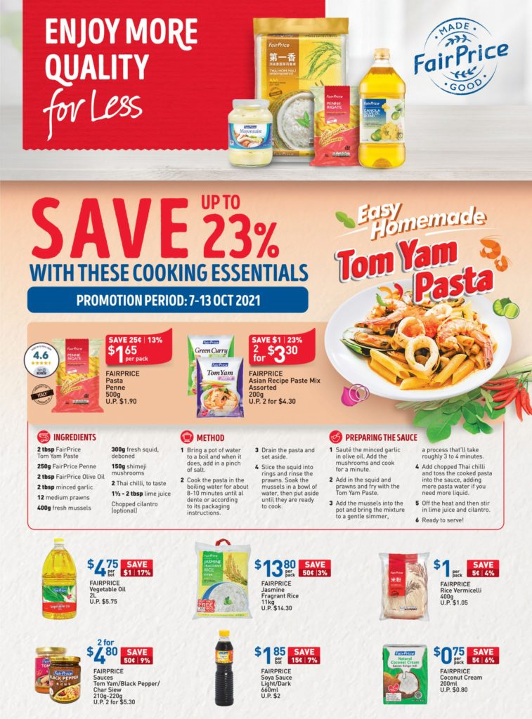 NTUC FairPrice Singapore Your Weekly Saver Promotions 7-13 Oct 2021 | Why Not Deals 12