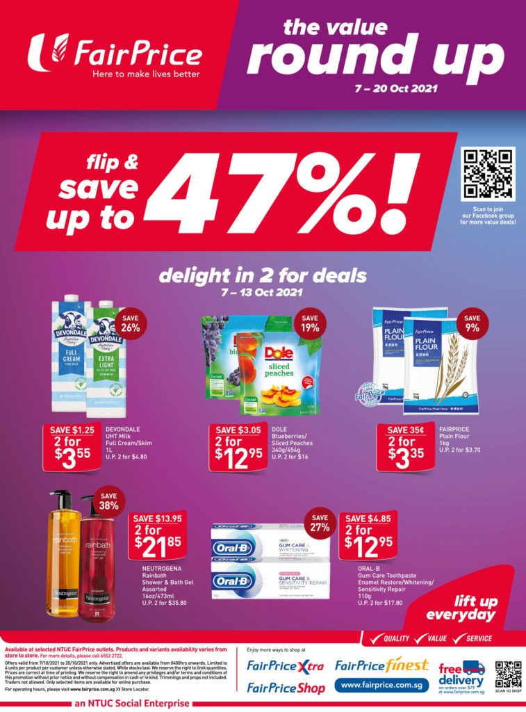 NTUC FairPrice Singapore Your Weekly Saver Promotions 7-13 Oct 2021 | Why Not Deals 13