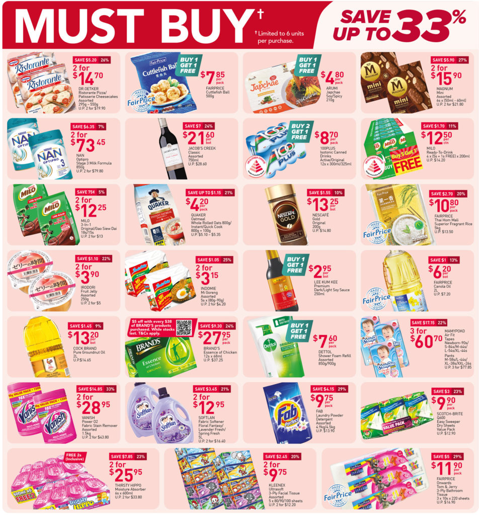 NTUC FairPrice Singapore Your Weekly Saver Promotions 7-13 Oct 2021 | Why Not Deals